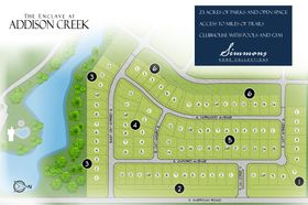 homes in Enclave at Addison Creek by Simmons Homes Inc.