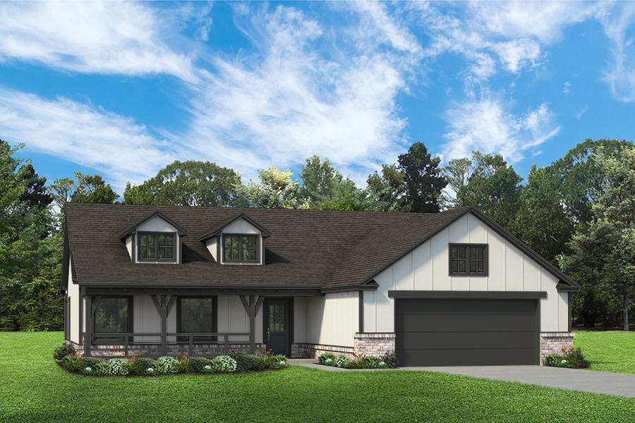 Exterior featured in the Madison By Simmons Homes Inc. in Tulsa, OK