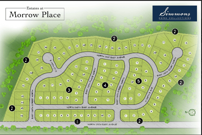 'Estates at Morrow Place' by Simmons Homes in Tulsa