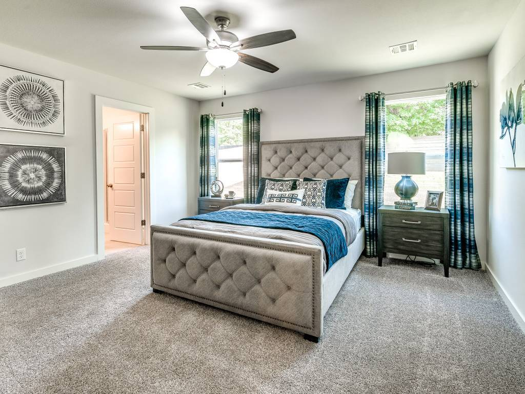 Bedroom featured in the Harper By Simmons Homes Inc. in Tulsa, OK
