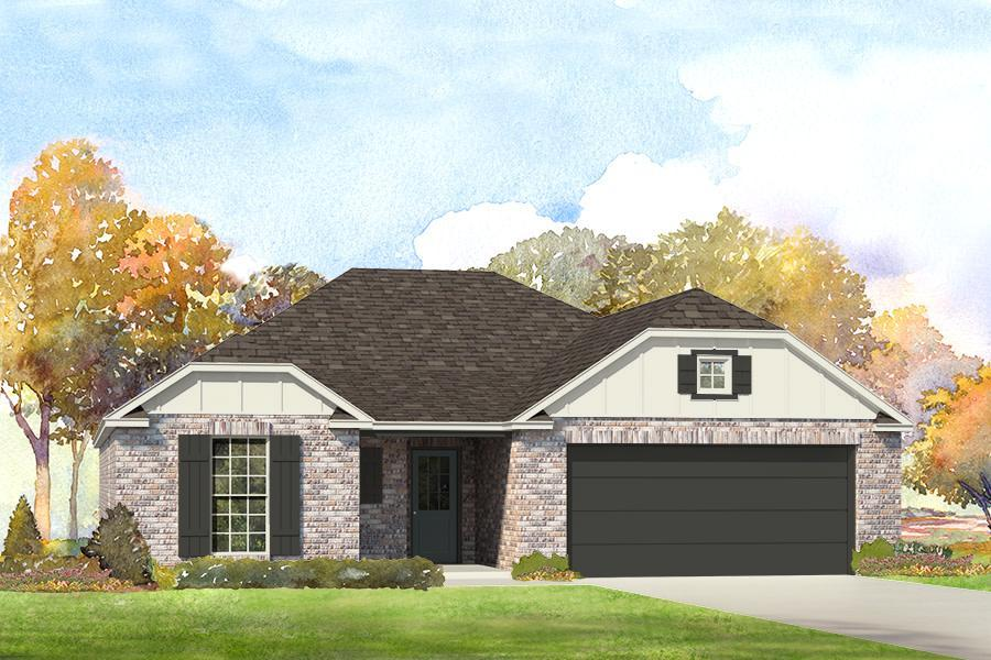 Exterior featured in the Yorkshire By Simmons Homes Inc. in Tulsa, OK