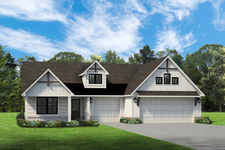 Exterior featured in the Delaney By Simmons Homes Inc. in Tulsa, OK