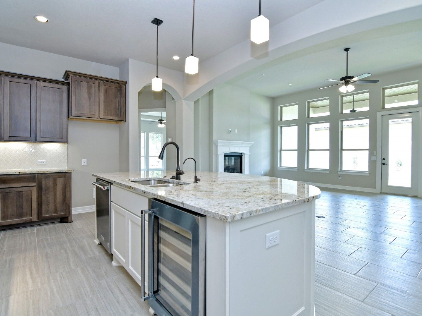 Kitchen featured in the Montava By Sitterle Homes in San Antonio, TX