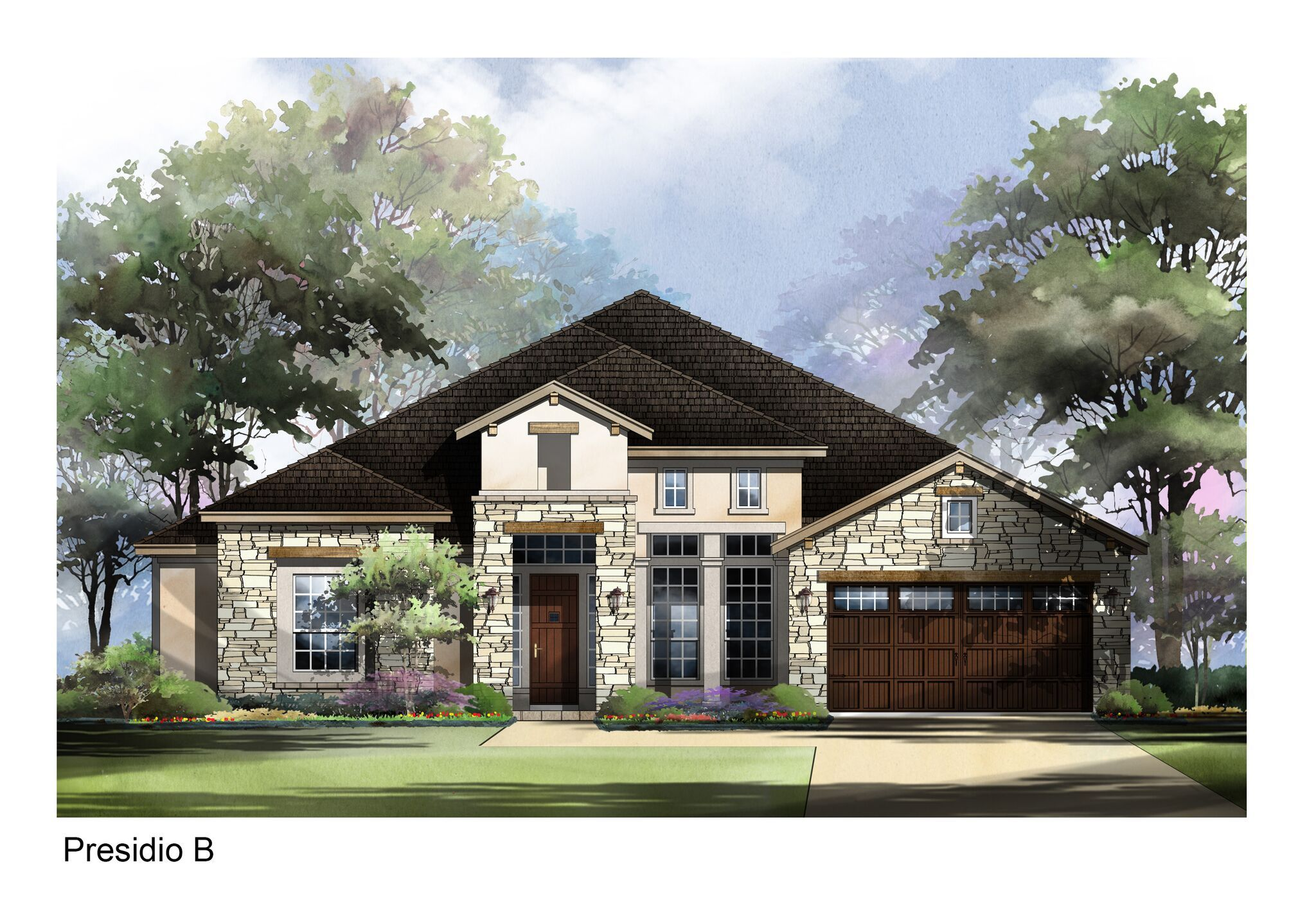 Exterior featured in the Presidio By Sitterle Homes in Austin, TX