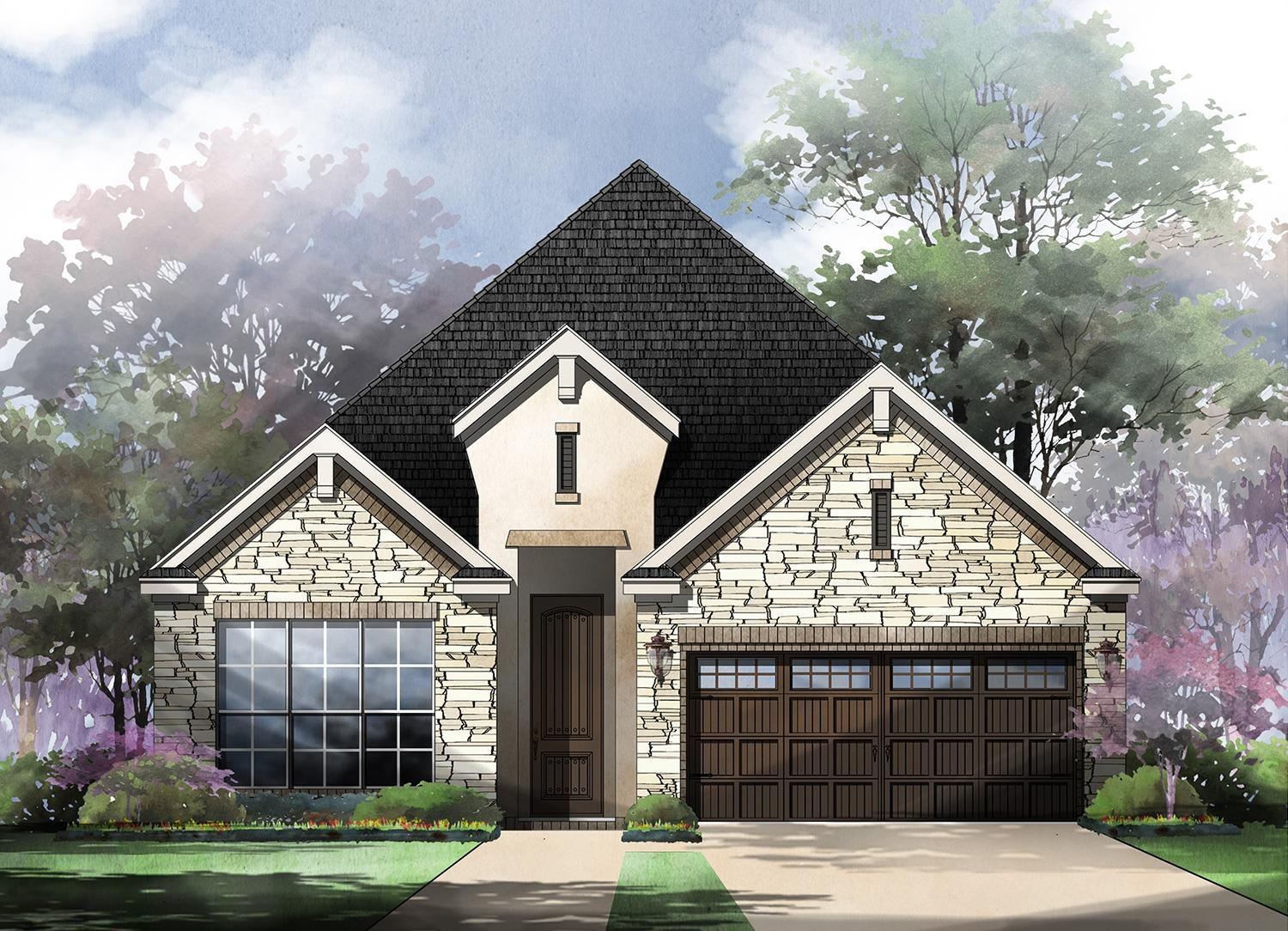 Exterior featured in the Roma By Sitterle Homes in San Antonio, TX