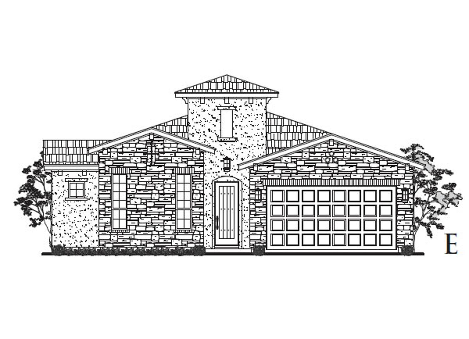 Exterior featured in the Bordeaux By Sitterle Homes in San Antonio, TX