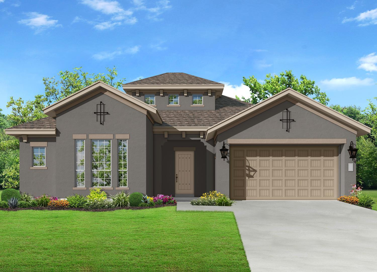 Exterior featured in the Revello By Sitterle Homes in San Antonio, TX
