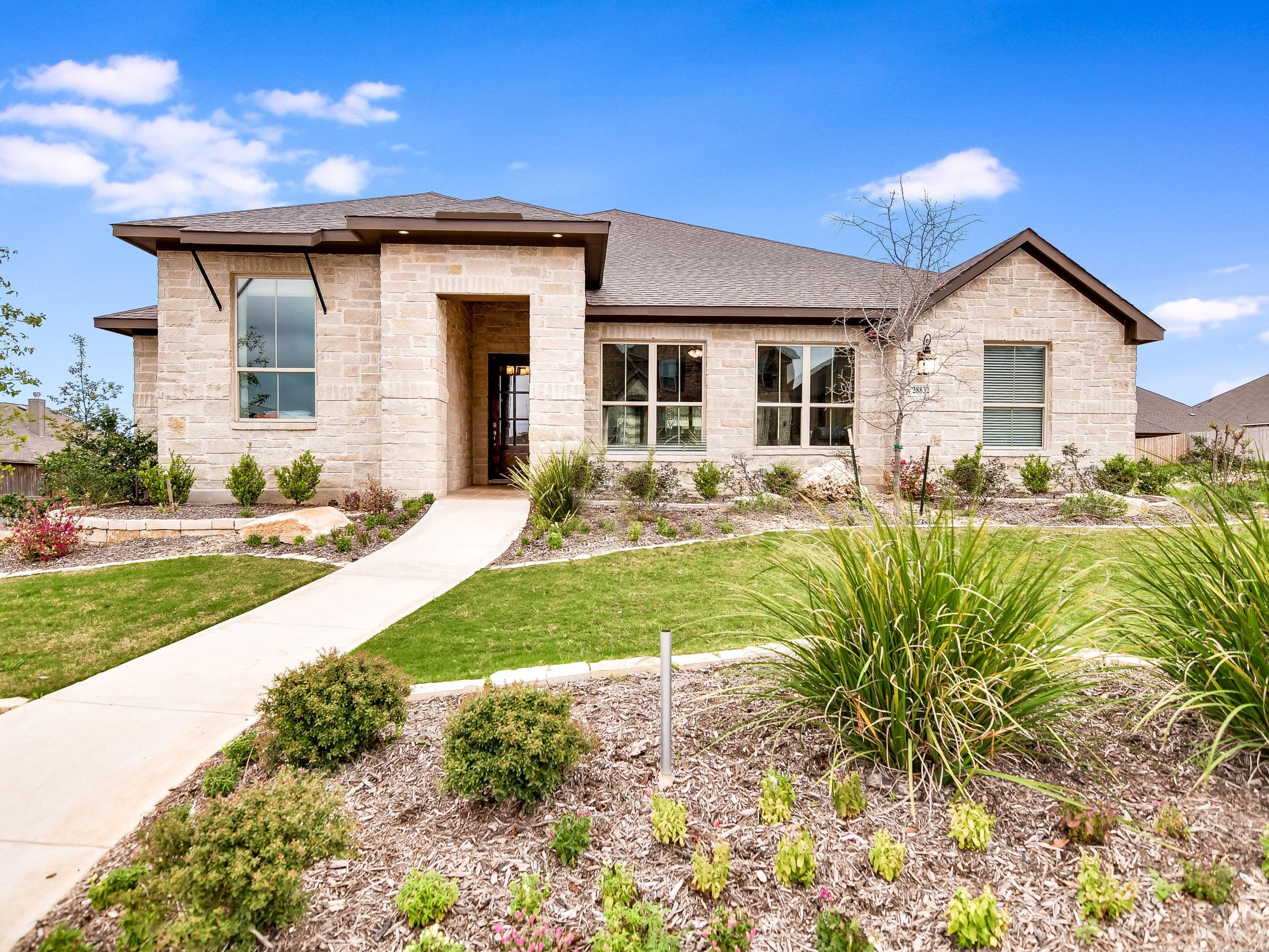 Exterior featured in the Westwood By Sitterle Homes in San Antonio, TX