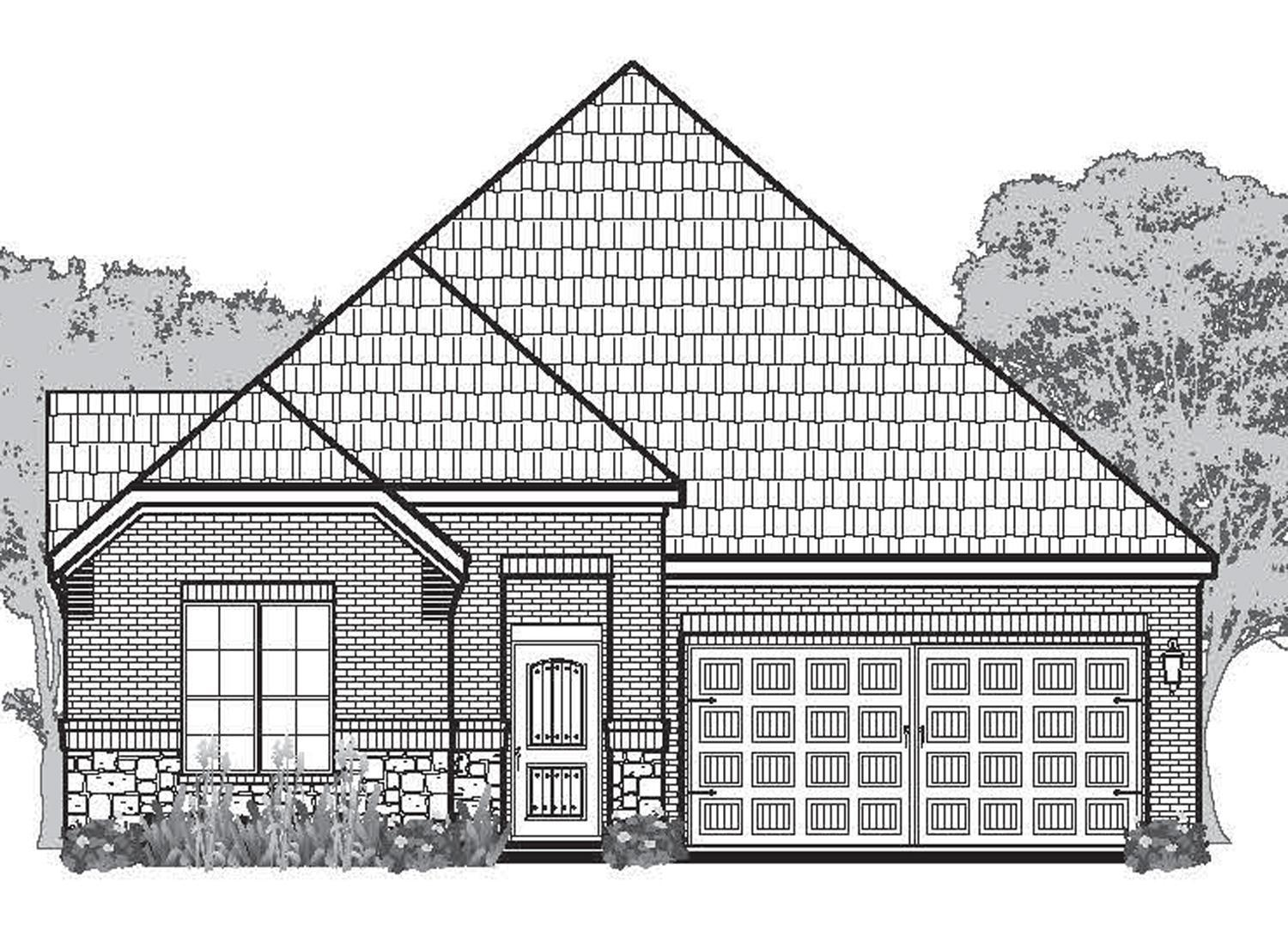 Exterior featured in the Imperia By Sitterle Homes in San Antonio, TX