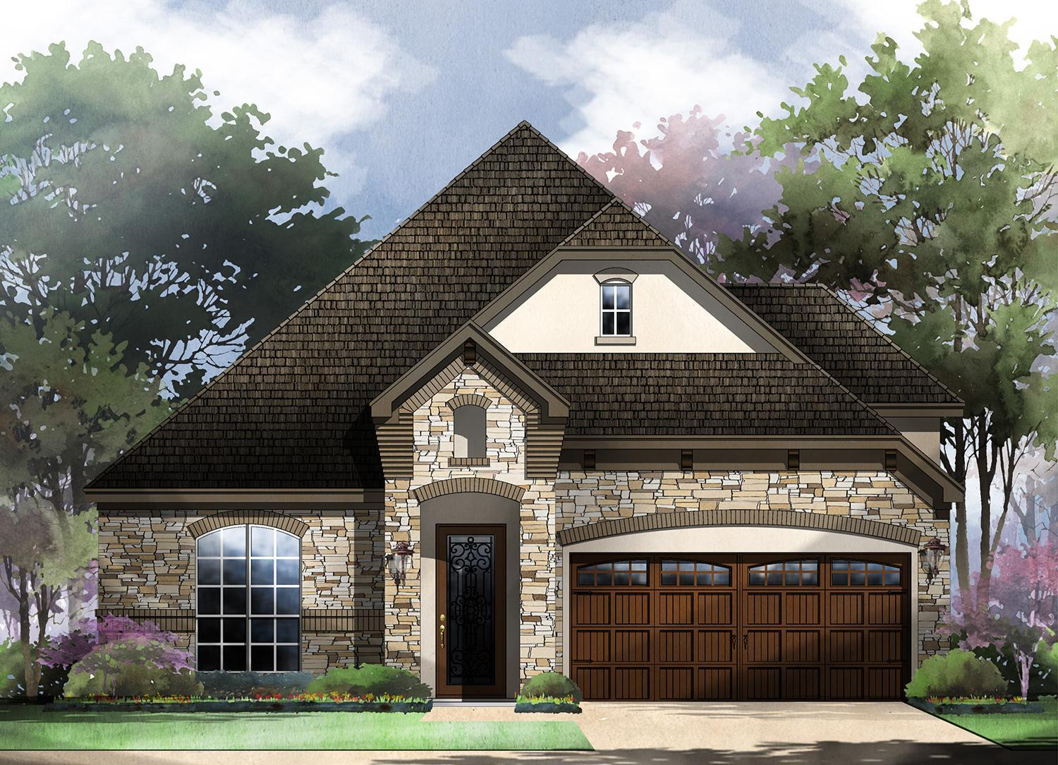 Exterior featured in the Monza By Sitterle Homes in San Antonio, TX
