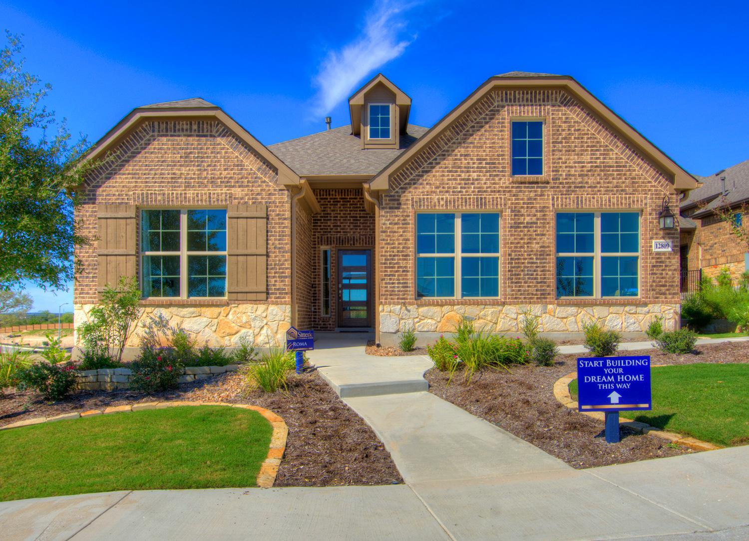 Exterior featured in the Roma Weston Oaks By Sitterle Homes in San Antonio, TX