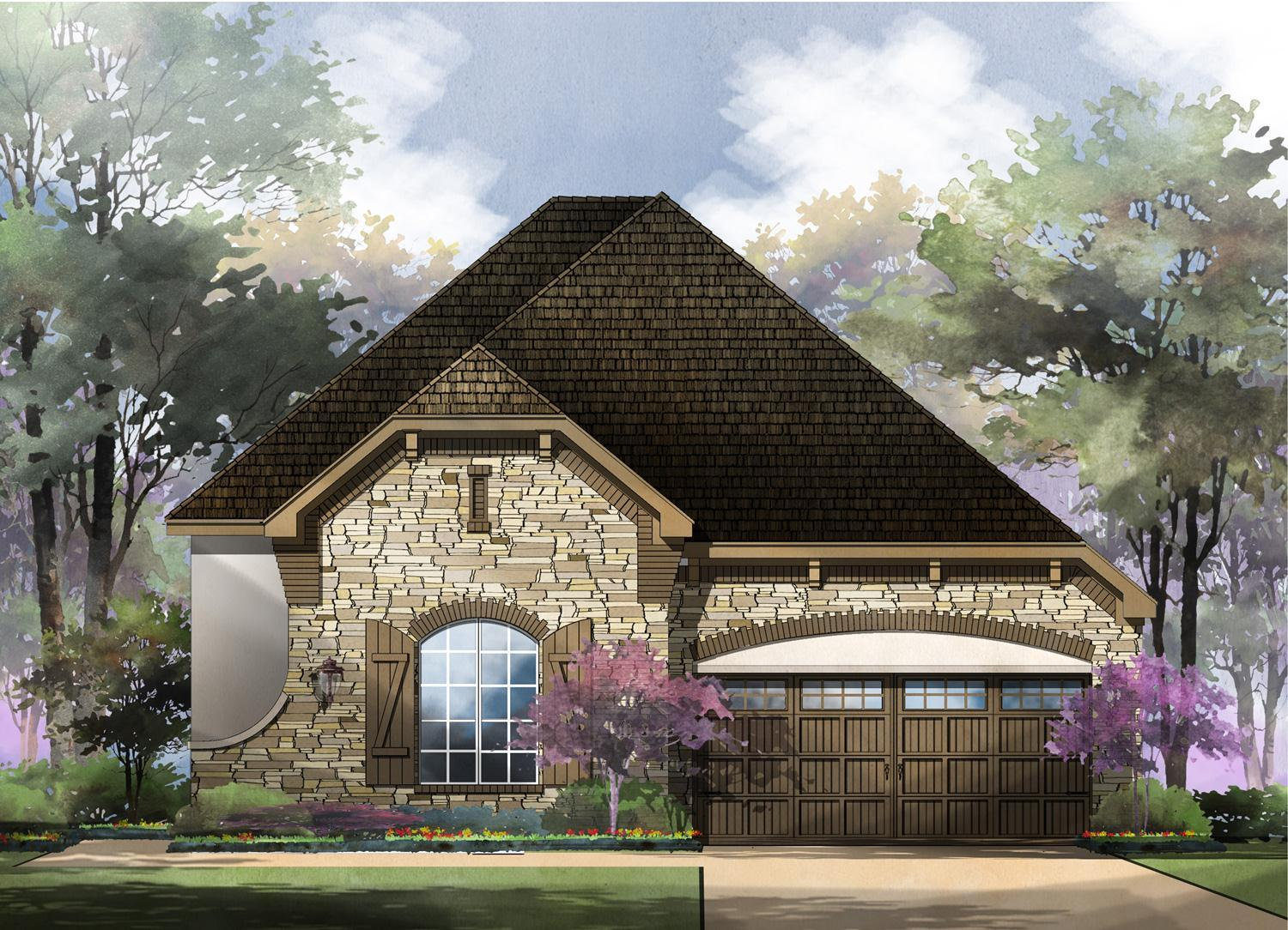 Exterior featured in the Capri By Sitterle Homes in San Antonio, TX