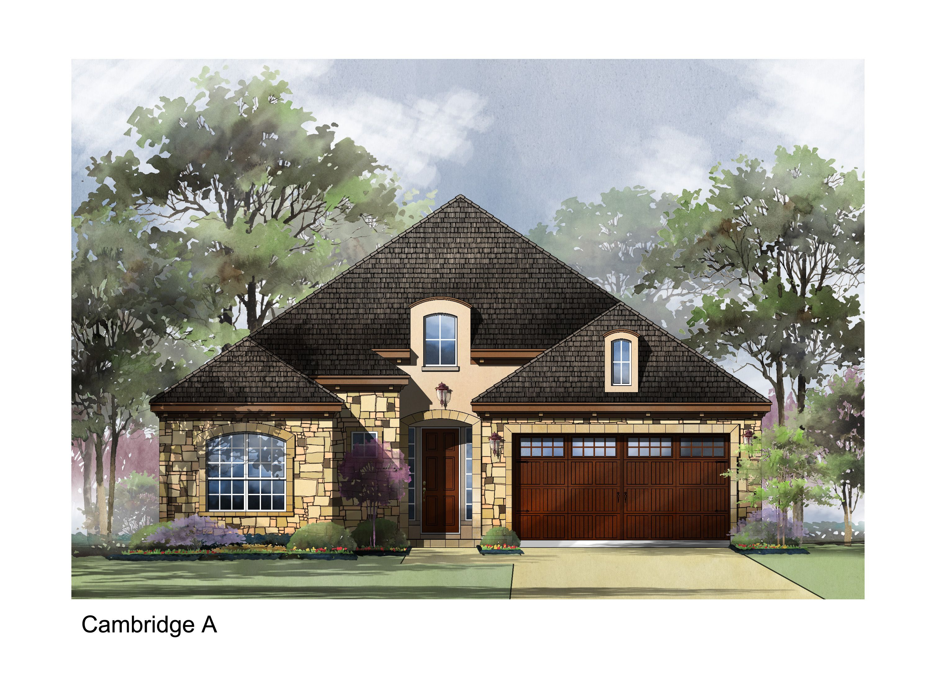 Exterior featured in the Cambridge By Sitterle Homes in Austin, TX