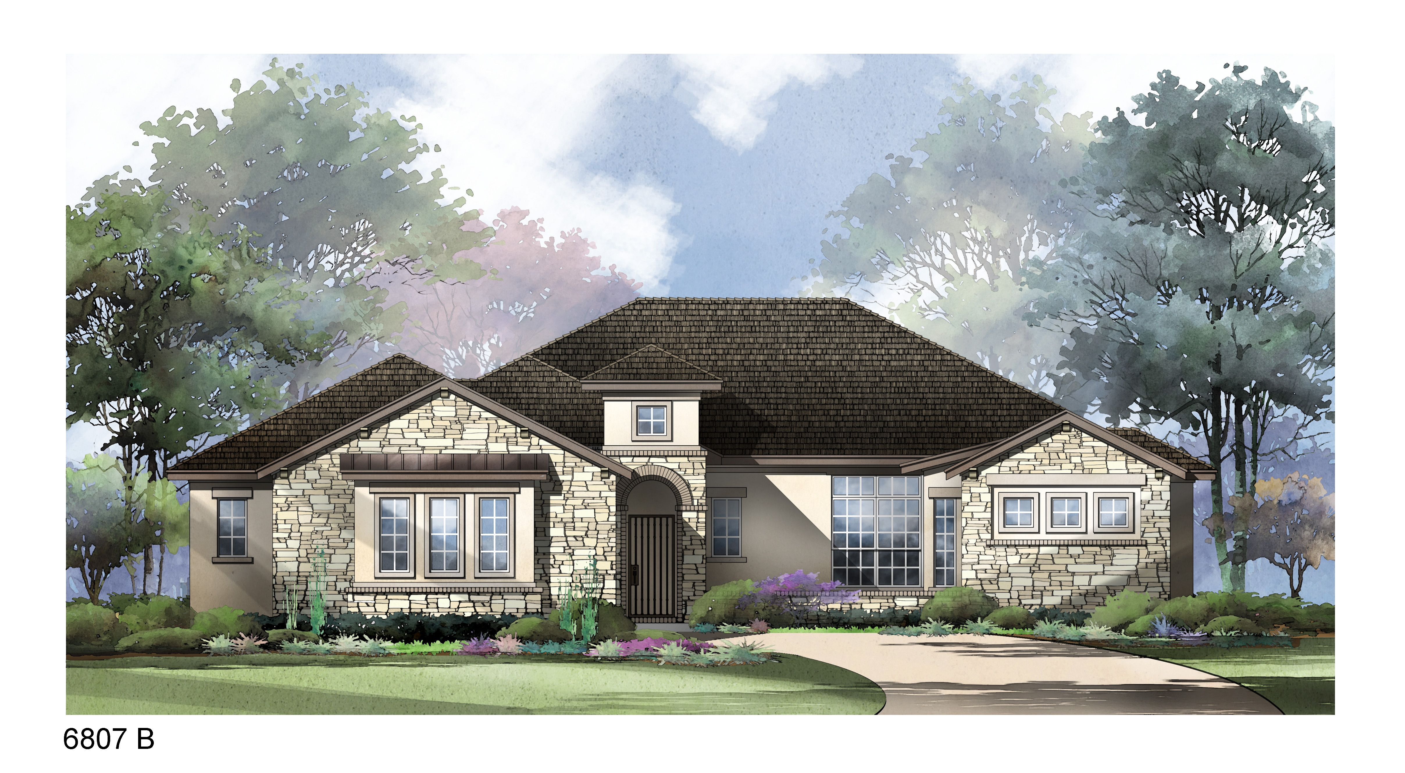 Exterior featured in the Portofino By Sitterle Homes in Austin, TX