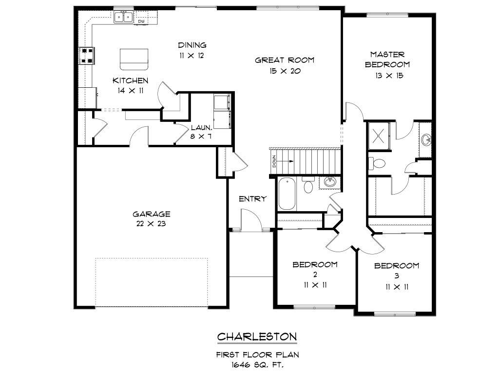 Charleston home plan by skogman homes in solon for Charleston floor plan
