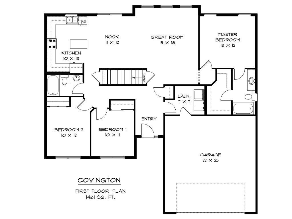 Covington model at 812 archer dr for Covington floor plan