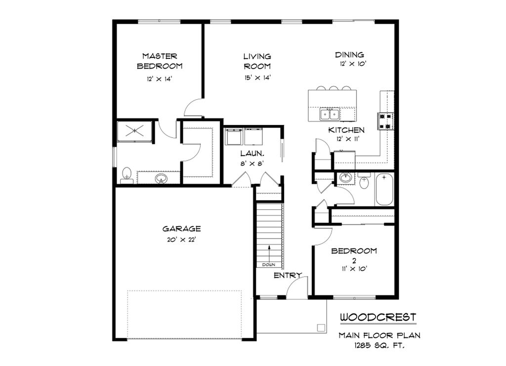 Woodcrest Home Plan by Skogman Homes in Floor Plan Library