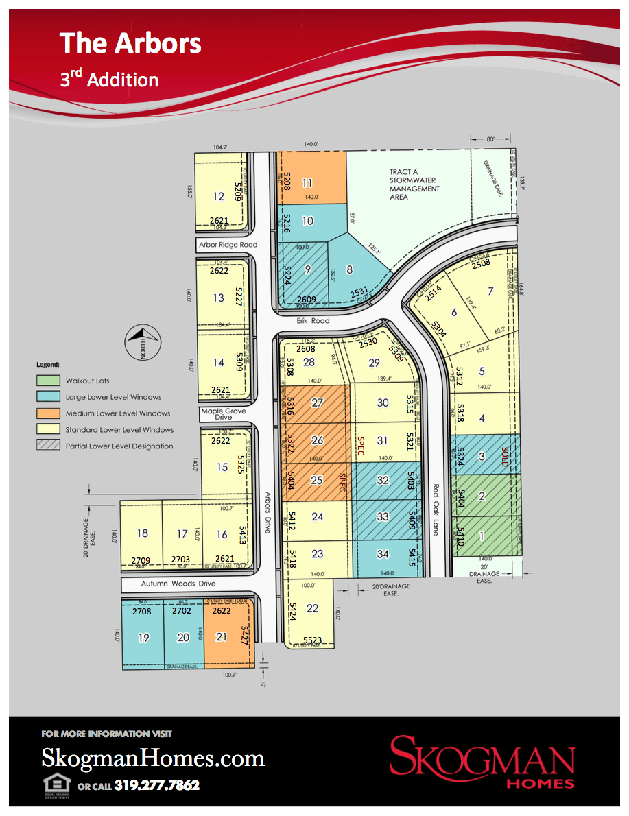 3rd Addition Lot Map