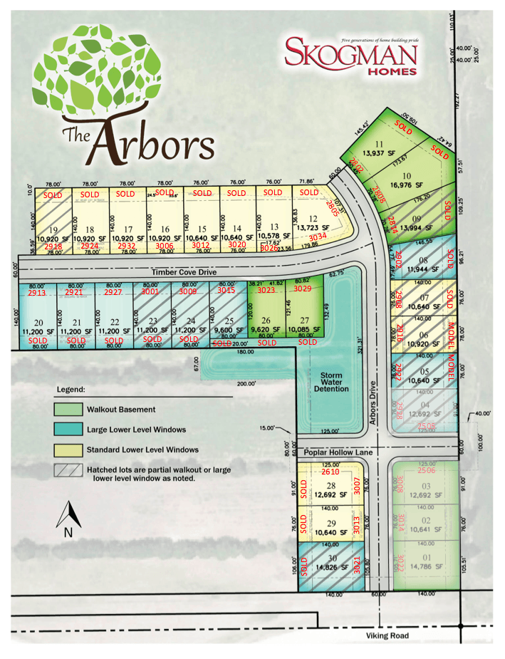 First Addition Lot Map