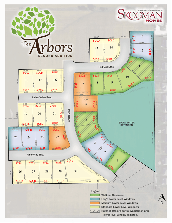 Second Addition Lot Map