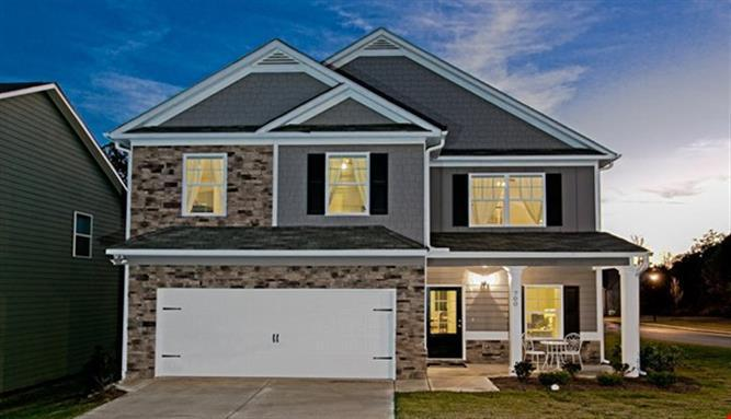 Exterior:Buffington Model Home- Options and selections may vary