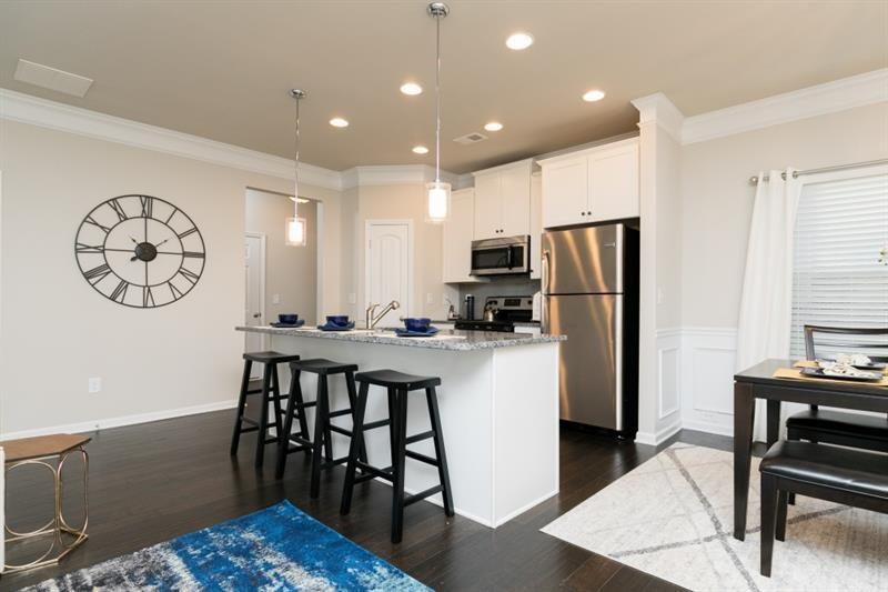 Kitchen-in-The Oxford D-at-Barrett Chase Townhomes-in-Dallas