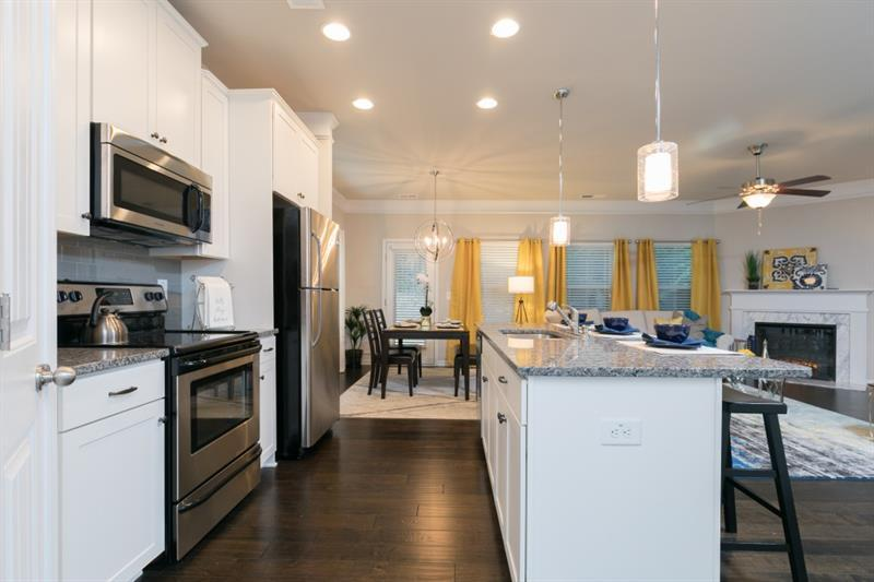 Kitchen-in-The Oxford J-at-Barrett Chase Townhomes-in-Dallas