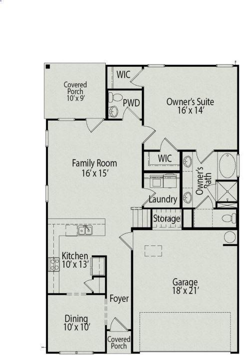 Carlyle Floor Plan, Level 1
