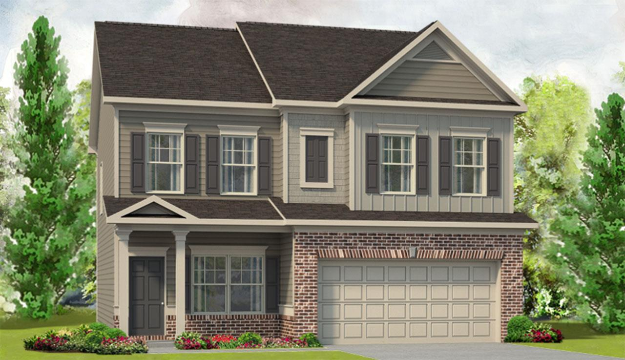 Exterior featured in The Cochran By Smith Douglas Homes in Anniston, AL