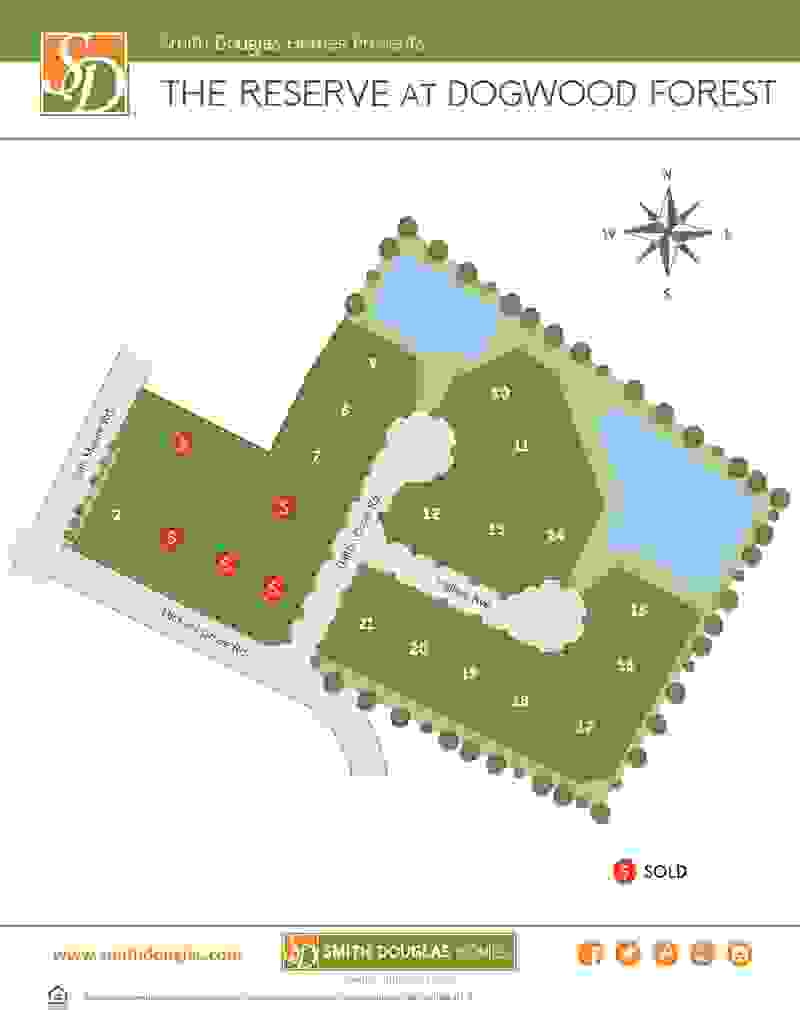 The Reserve at Dogwood Forest Sitemap