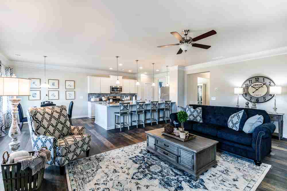 Open concept-living areas