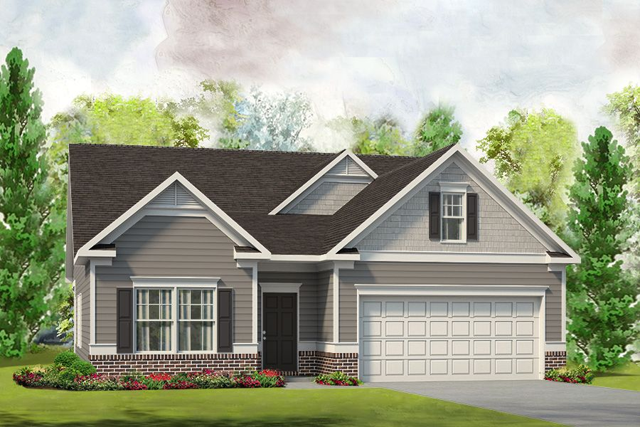 Exterior featured in The Lanier By Smith Douglas Homes in Huntsville, AL