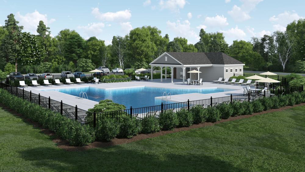 Community Pool Rendering