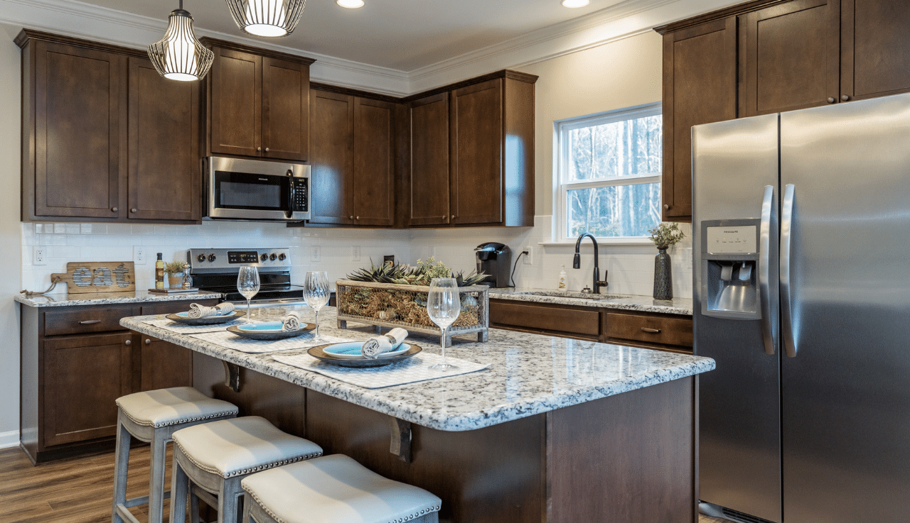 Kitchen featured in The Bayfield By Smith Douglas Homes in Goldsboro, NC