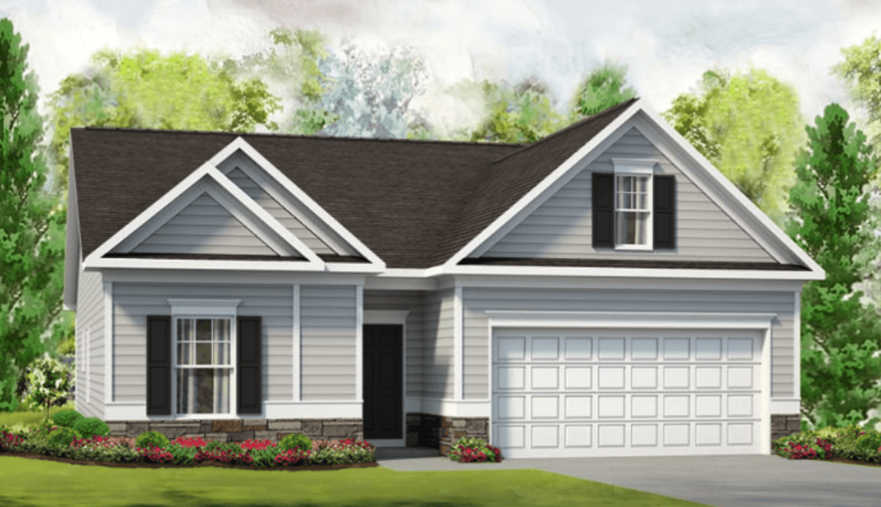Exterior featured in The Bayfield By Smith Douglas Homes in Goldsboro, NC