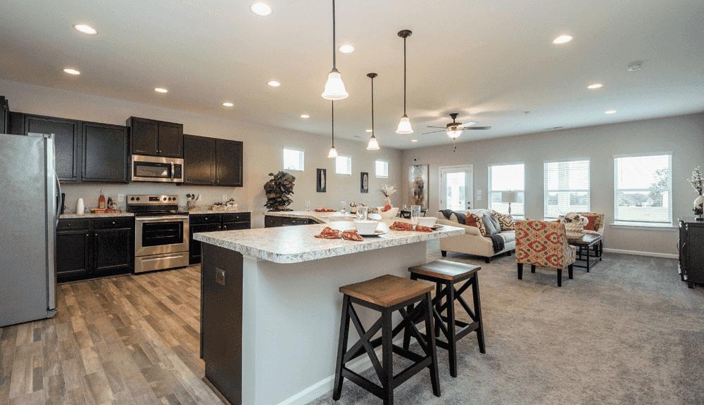 Open-Concept Living Area