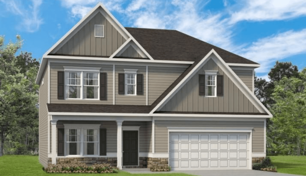 Exterior featured in The Ellijay By Smith Douglas Homes in Raleigh-Durham-Chapel Hill, NC
