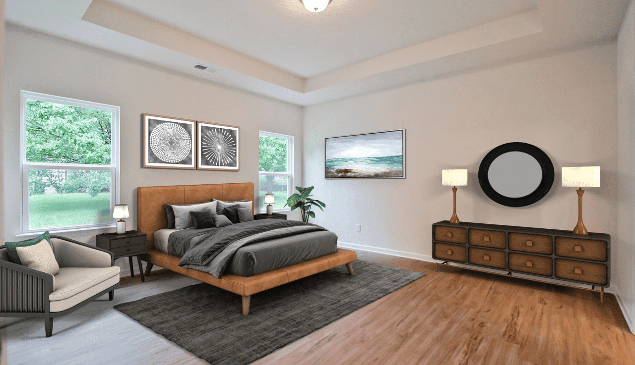 Bedroom featured in The Pruitt By Smith Douglas Homes in Goldsboro, NC
