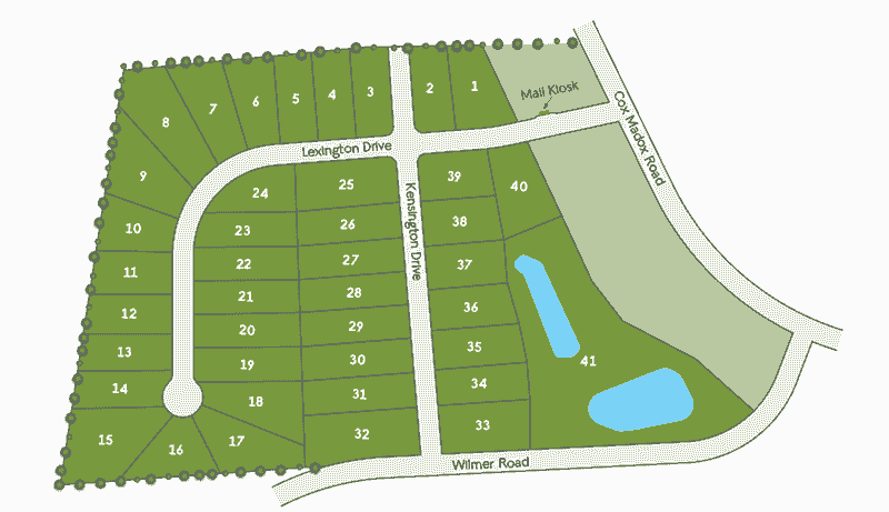 Lexington Farms Site Map