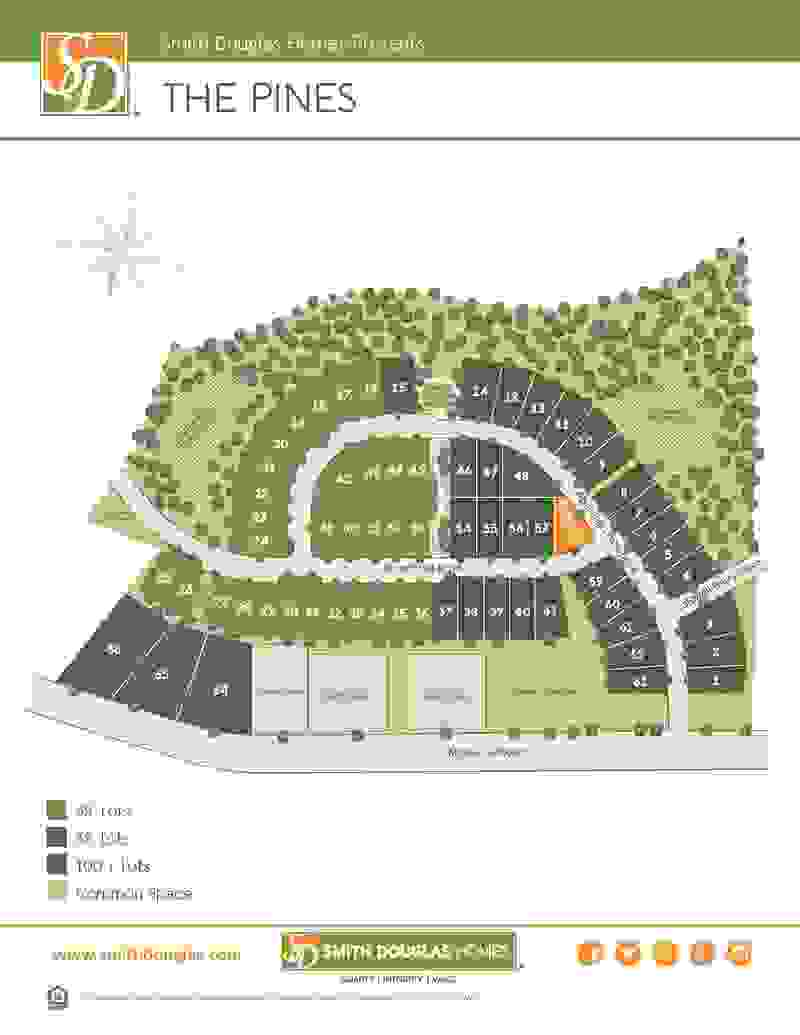 The Pines Sitemap