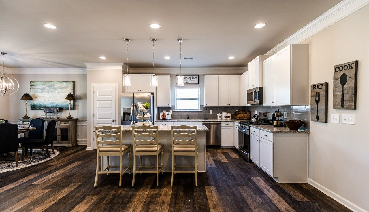 Kitchen featured in The Bayfield By Smith Douglas Homes in Anniston, AL