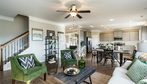 Greatroom-and-Dining-in-The McPherson-at-White Oak Valley-in-Aragon