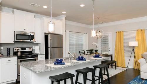 Kitchen-in-The Oxford A-at-Barrett Chase Townhomes-in-Dallas
