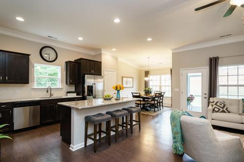 Kitchen-in-The Bayfield with Basement-at-Woodbury Estates at Newnan Crossing-in-Newnan