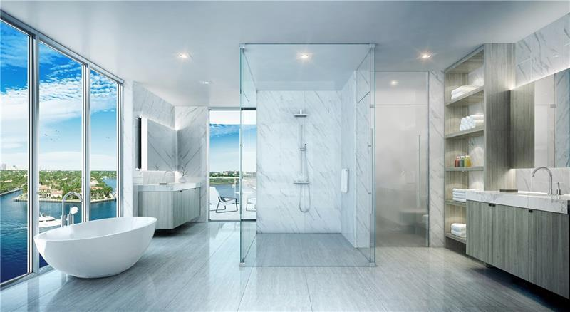 Bathroom featured in The Pacific (Unit B) By Sobel Co in Broward County-Ft. Lauderdale, FL
