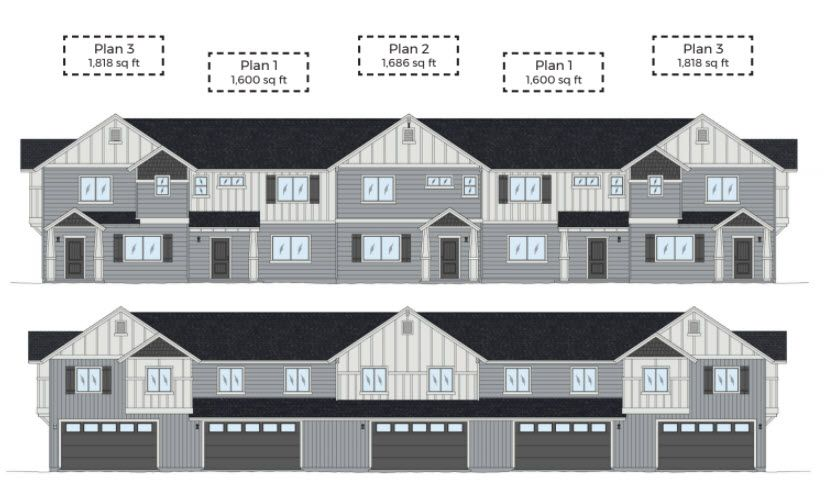 Exterior featured in the Plan 3 By Solid Homes in Flagstaff, AZ