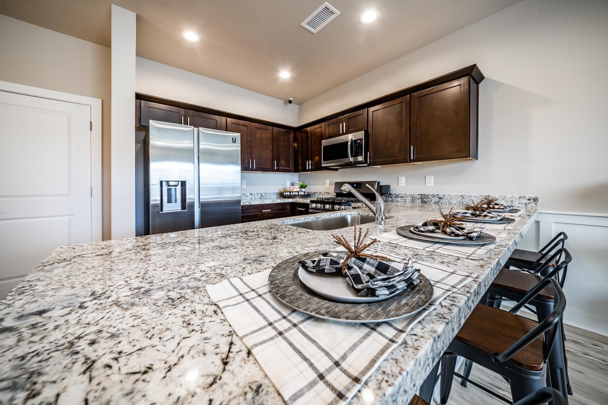 Kitchen featured in the Plan 1 By Solid Homes in Flagstaff, AZ