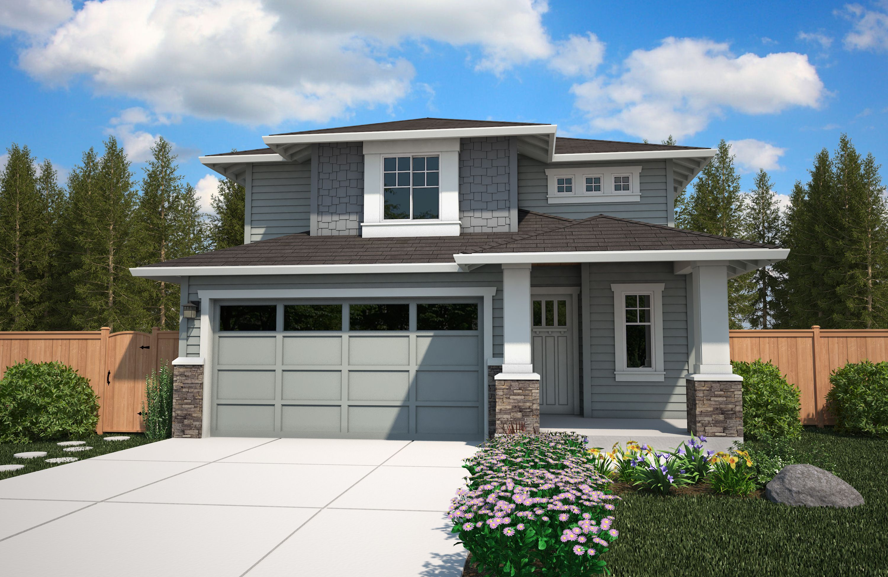 Exterior featured in the Blossom By Soundbuilt Homes in Tacoma, WA