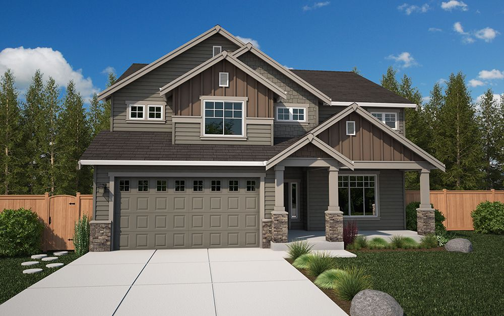 Exterior featured in the Teton By Soundbuilt Homes in Tacoma, WA