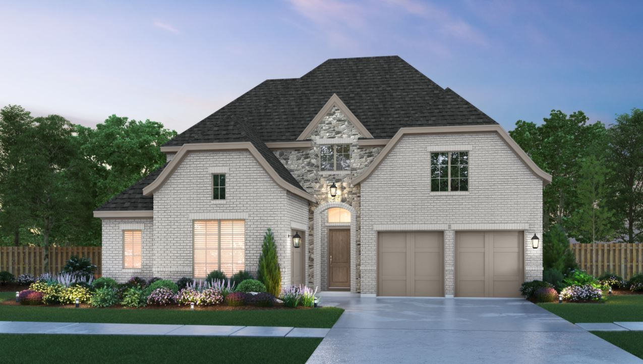 Exterior featured in The Brenham   50212.1 By Southgate Homes in Dallas, TX